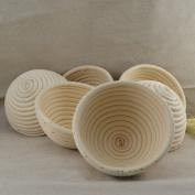"6 Pieces 5""(13CM) Round Proofing Basket Banneton Brotform,Round Rattan Banneton Brotform Bread Proofing Proving Basket,Wholesale"