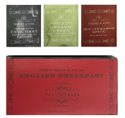 Harney & Sons English Breakfast 50 Tea Bags (With Bonus 1 Green Citrus Ginkgo,1 Decaff Earl Grey,1 Cinnamon Spice) Total of 53 Tea Bags
