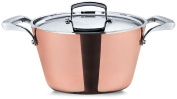 Pensofal Reserve Sauce Pan with 2 Handles and Stainless Steel Lid, 23cm - 1.3cm , Copper
