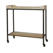 Cheungs Home Decorative Wood Top Seving Cart With Bottom Rack