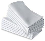 6 White Cotton Linen Napkins Restaurant Dinner Cloth Premium