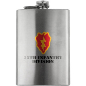 Army 25th Infantry Division Full Colour 240ml Flask