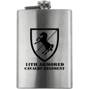Army 11th Armoured Cavalry Regiment Subdued 240ml Flask