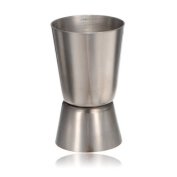Water & Wood 25ml -50ml Stainless Steel Dual Jigger Cocktail Drinks Liquor Ounce Cup Pourer Measure Measuring Tool For Bar Craft