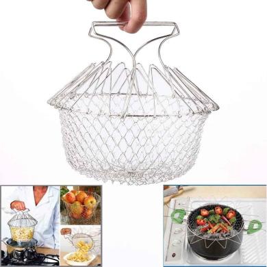 Durable Fry Strainer Sieve Steam Colander Kitchen Cooking Chef Basket