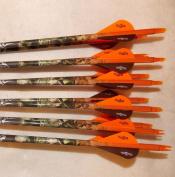 Gold Tip Velocity 340 Carbon Arrows w/Blazer Vanes Mossy Oak Faded Wraps 1 Dz.