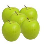 HotEnergy Home living room fruit plate plastic peel green apple fake artificial