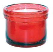 Chesapeake Bay Candle Citronella Glass Vessel, Red