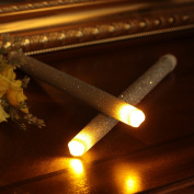 LED Flameless Taper Candle Dripless Real Wax Pillars with Timer Function, Battery Operated