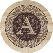 Thirstystone Absorbent Drink Coasters, Monogram A