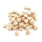 StarMall Set of 10 16MM Round Wooden Dice Set