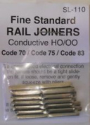 Peco SL-110 HO Code 83/75/70 Conductive Rail Joiner 24 Pack
