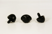 Black Safety Craft Animal Nose for Bear Puppet Doll Made in Japan Style-G 30mm 2pcs/pkg