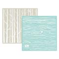 We R Memory Keepers Woodgrain Goosebumpz Embossing Folder, 2 Per Package