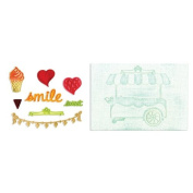 Sizzix Framelits Die Set 8PK with Textured Impressions - Sweet Shoppe Set by Rachael Bright