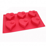 X-Haibei Flying Heart Valentine Muffin Cupcake Chocolate Soap Pudding Tray Silicone Mould