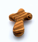 Olive Wood Comfort Cross fits in the palm of your hand perfectly