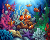 Paint By Number Kits No Blending / No Mixing Linen Canvas DIY Painting - Lucky Fish