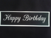 10 x Happy Birthday words stencils for etching on glass gift hobby craft present glassware