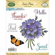 Justrite Papercraft 8.9cm by 10cm Cling Stamp Set, Mini, Sweet Posies
