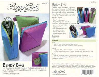 Bendy Bag Pattern By Lazy Girl Designs