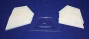 Mylar 10cm Half Hexagon 51 Piece Set - Quilting / Sewing Templates