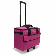 Luova 48cm Rolling Sewing Machine Trolley in Pink