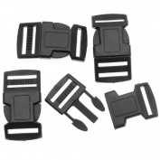 Paracord / Parachute Cord Black Plastic Buckles 20mm / 0.75 Inches