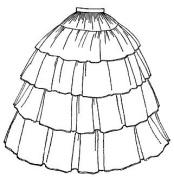 1854 Flounced Skirt Pattern