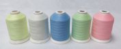 Glow in the Dark Embroidery Thread 1000m/spool 5spools/set