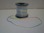 Variegated Multi Colour Baby Pastel 2mm X 50 Yards Satin Rattail Cord Chinese/china Knot Rat Tail Jewellery Braid 100% Polyester