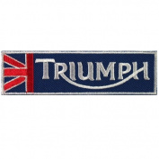 TRIUMPH Biker Motorcycles Jacket T-shirt Patch Sew Iron on Embroidered