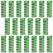 TIANQIU HW01 AG11 1.55V Alkaline Cell Button Batteries - Silver