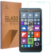 Mr Shield For (Nokia) Microsoft Lumia 640 XL Tempered Glass screen protector [0.3mm Ultra Thin 9H Hardness 2.5D Round Edge] with Lifetime Replacement Warranty