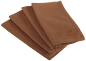 Tommy Bahama Palm Tree Logo, Pack of 4 Napkins, Brown