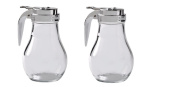 Thunder Group GLTWSY014 Syrup Dispenser with Cast Zinc Top, 410ml, Pack of 2