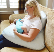 The 4 in 1 One Z BLUE Nursing Pillow w/ AMAZING BACK SUPPORT- BLUE colour COVER