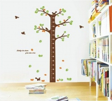 BUYINHOUSE Large Tree Height Measurement Growth Chart with Quote Wall Sticker Decal for Kids Room Measures 150cm or 1.5m