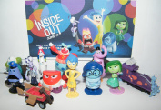 Disney Inside Out Movie Figure Set Toy Playset of 12 with Joy, Fear, Anger, Disgust, Sadness, Bing Bong, Rainbow Unicorn, Jangles the Clown Etc and Special Collectible.