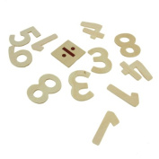 Creation Station Wooden Numbers and Symbols, Natural