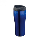 Stainless steel travel cup - blue