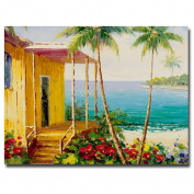 Trademark Fine Art Key West Villa by Master's Art Canvas Wall Art, 46cm x 60cm