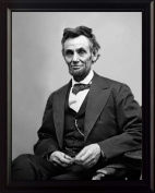 President Abraham (Abe) Lincoln 20cm x 25cm Photograph Framed Picture