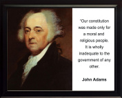 """John Adams """"Our Constitution was made only"""" Quote 8x10 Framed Photo"""