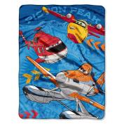 """Disney's Planes """"Rescue Crew"""" Micro Raschel Throw - 110cm x 150cm"""