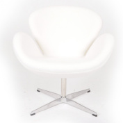 Kardiel Swan Chair, White Boucle Cashmere Wool