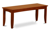 East West Furniture PFB-SBR-W Dining Bench with Wood Seat, Saddle Brown Finish