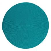 Boca Raton Polypropylene Braided Round Rug, 1.2m, Turquoise