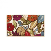 Modern Living Flowers Decorative Area Accent Rug, 46cm by 80cm