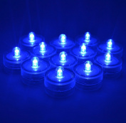 Samyo Set of 36 Waterproof Wedding Submersible Battery LED Tea Lights Underwater Sub Lights- Wedding Centrepieces Party Decorate